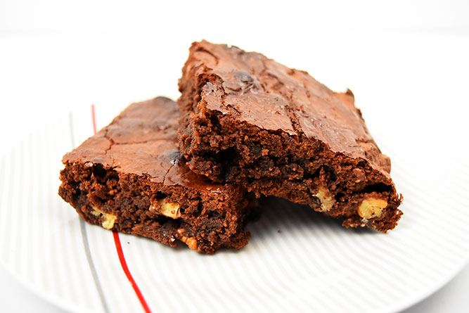 Brownie à la pâte à tartiner noisette sans gluten