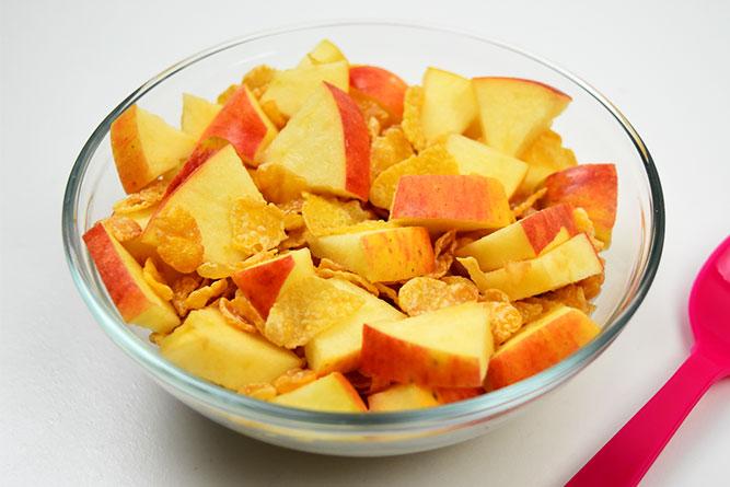 Corn flakes à la pomme rouge sans gluten
