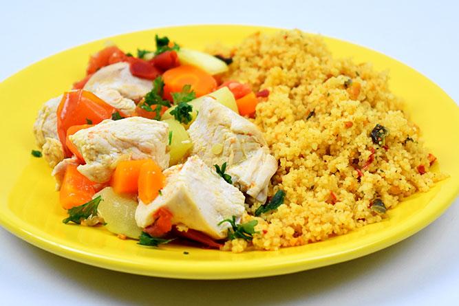 Couscous au poulet express sans gluten