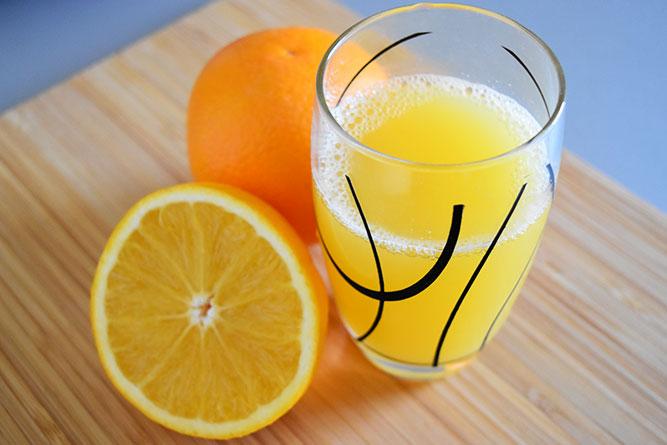 Jus d'orange maison sans gluten