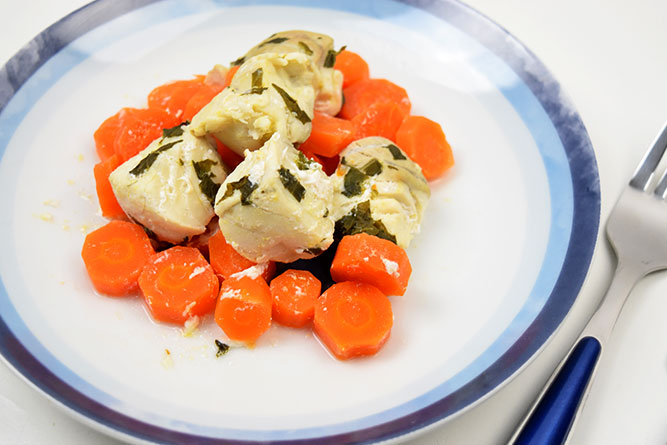 Lieu noir à l'orange et au basilic sans gluten