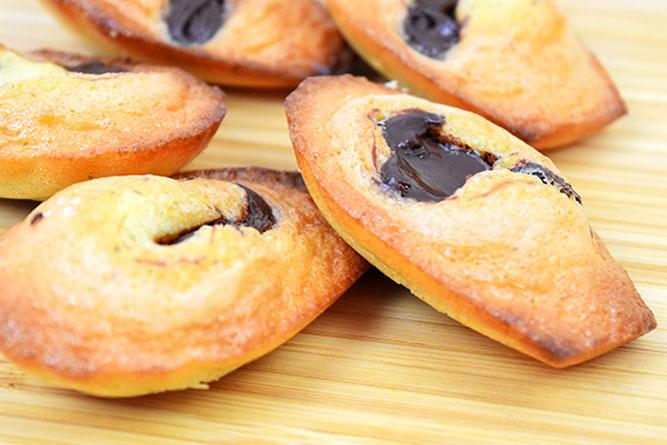 Madeleines à la pâte à tartiner sans gluten