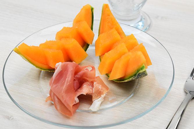 Melon et jambon cru sans gluten