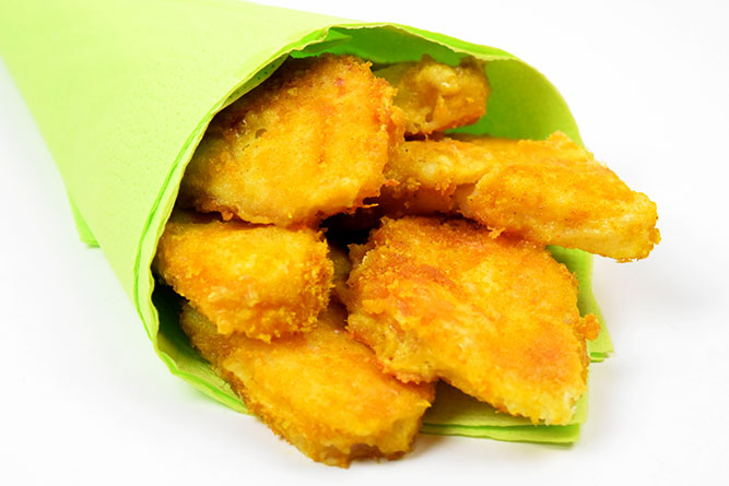 Nuggets de poisson sans gluten