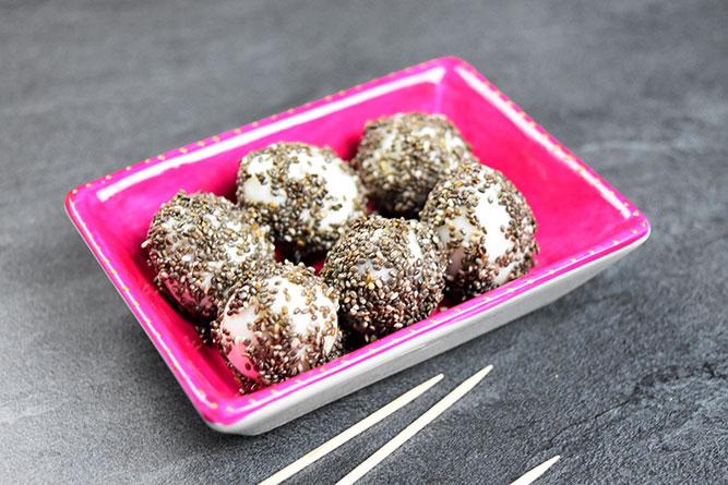 Oeufs de caille aux graines de chia sans gluten