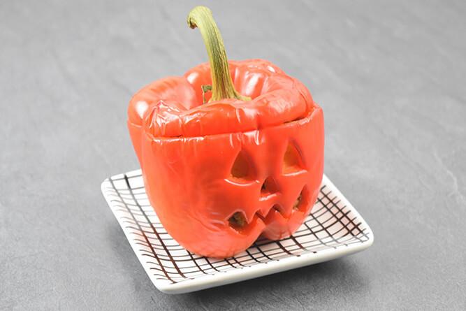 Poivron farceur d'halloween sans gluten