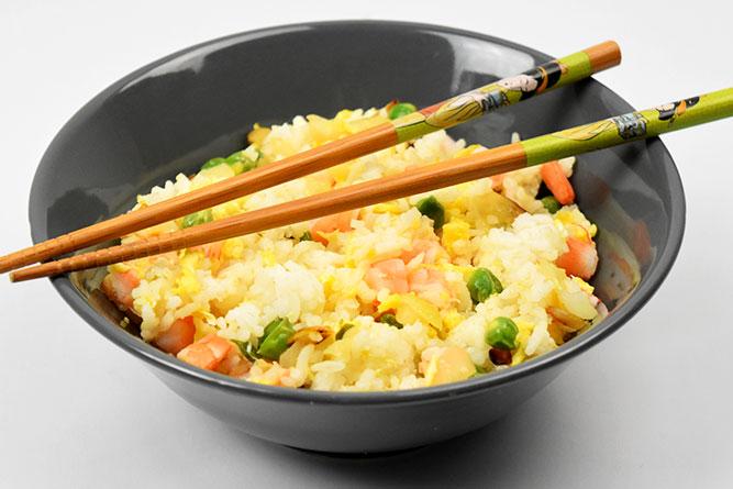 Riz cantonais sans gluten