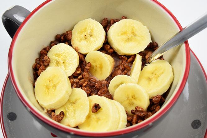 Riz soufflé à la banane sans gluten