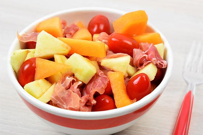 Salade fraîcheur au melon sans gluten