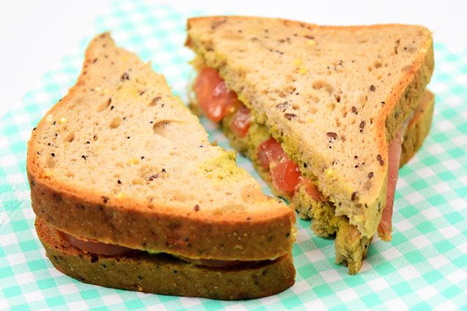 Sandwich au pesto sans gluten