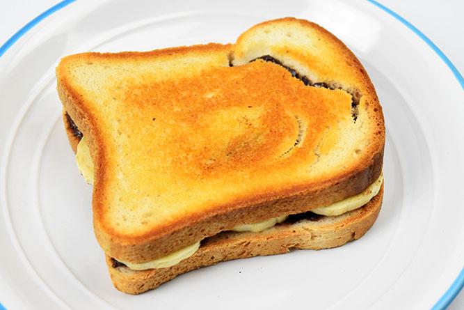 Sandwich banane chocolat sans gluten