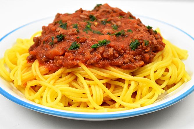 Spaghettis à la bolognaise express sans gluten