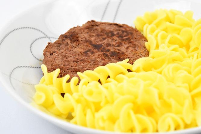 Steak haché et fusillis sans gluten