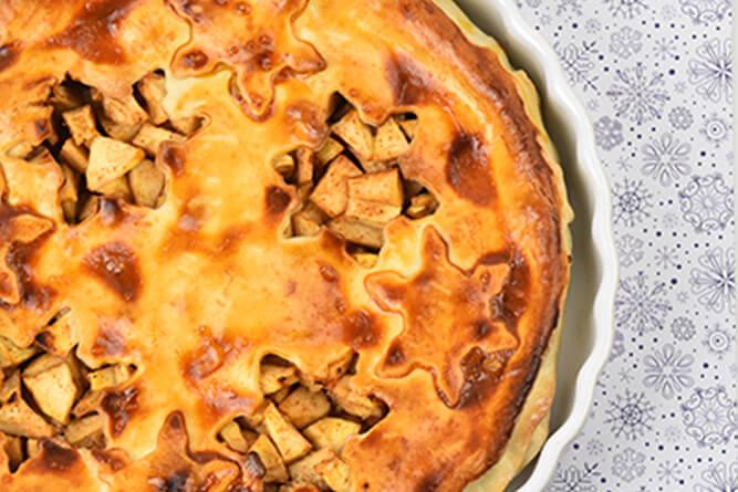 Tarte aux pommes de noël sans gluten