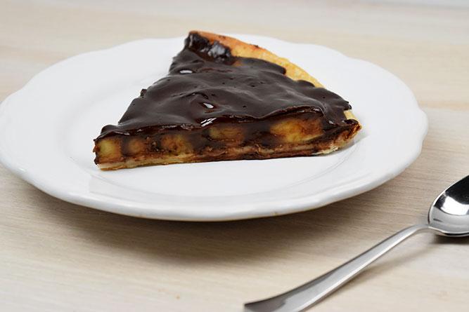 Tarte banane chocolat sans gluten