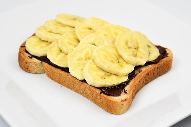 Tartine chocolat banane sans gluten